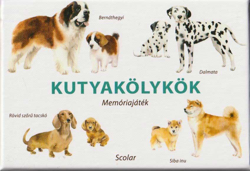 Kutyakölykök memóriajáték