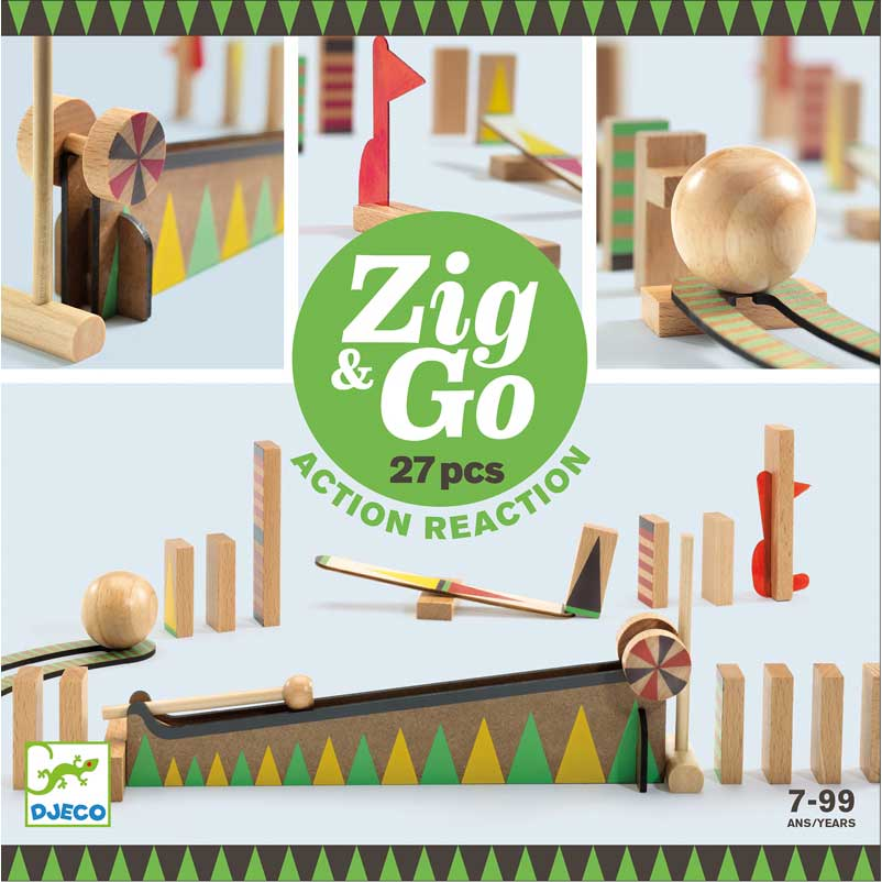 DJECO Zig & Go 27 darabos építőjáték