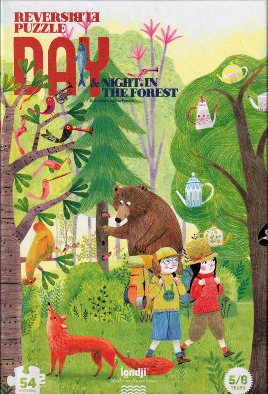 Nappal és éjszaka az erdőben- 54 db-os kétoldalas puzzle – Londji