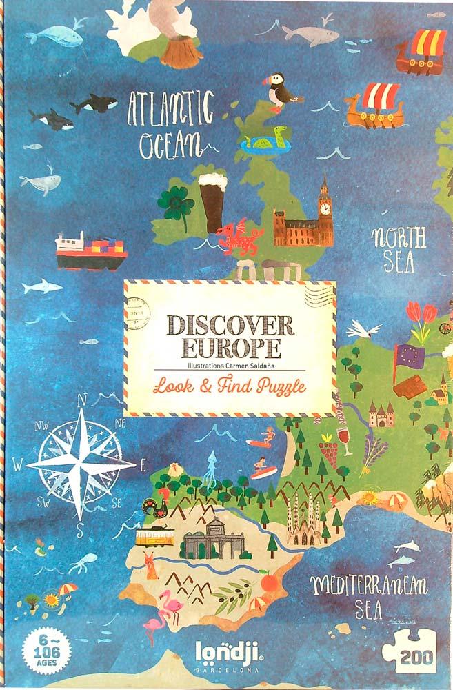 Fedezd fel Európát! Böngésző puzzle – Discover Europe – Londji