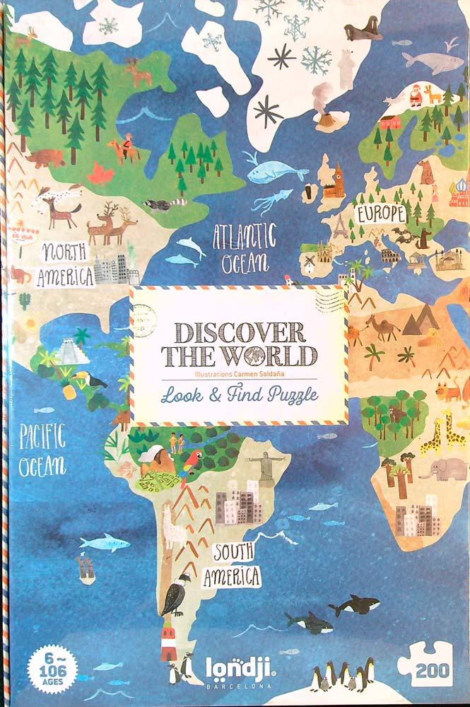 Fedezd fel a világot! Böngésző puzzle – Discover the World – Londji