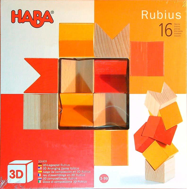 Haba Rubius – 16 db-os fa építőjáték