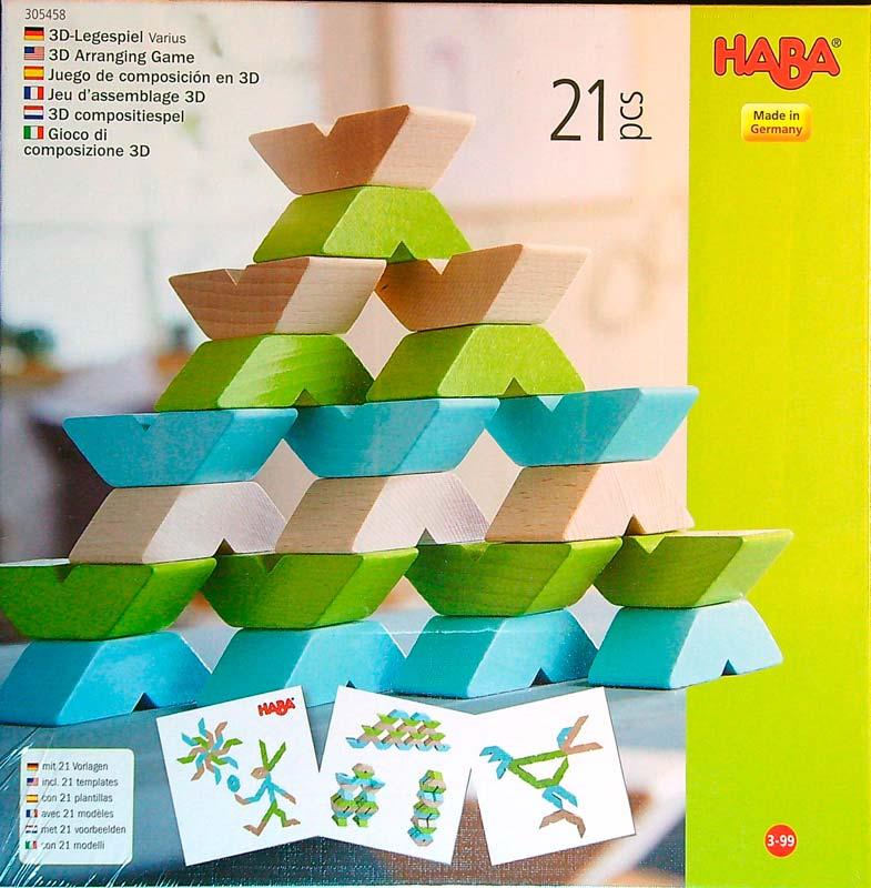 Haba Varius – 21 db-os fa építőjáték
