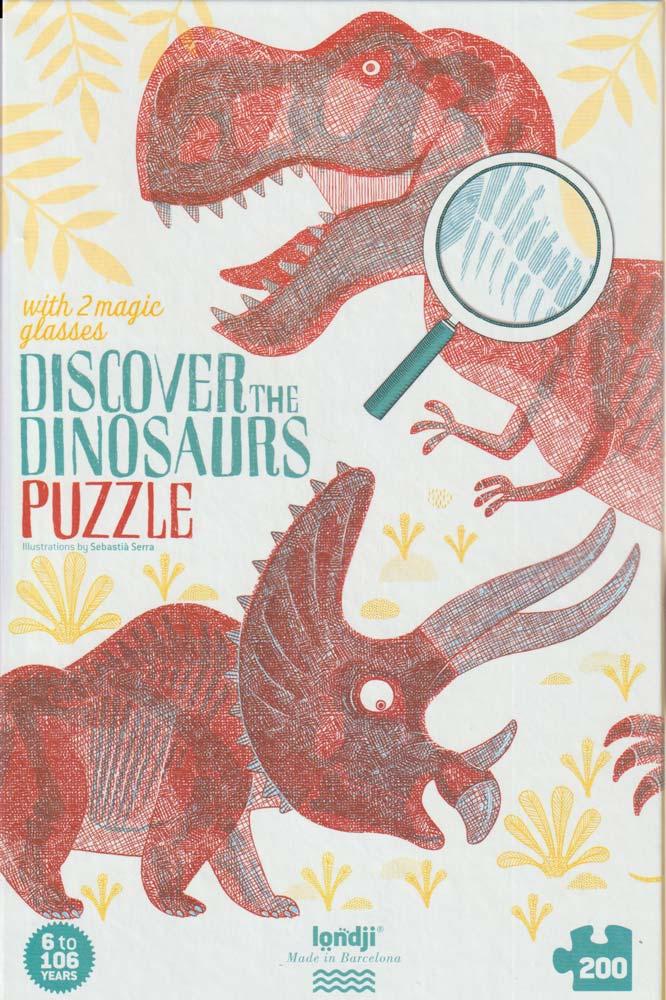 Fedezd fel a dínókat! puzzle – Discover the Dinosaurs – Londji