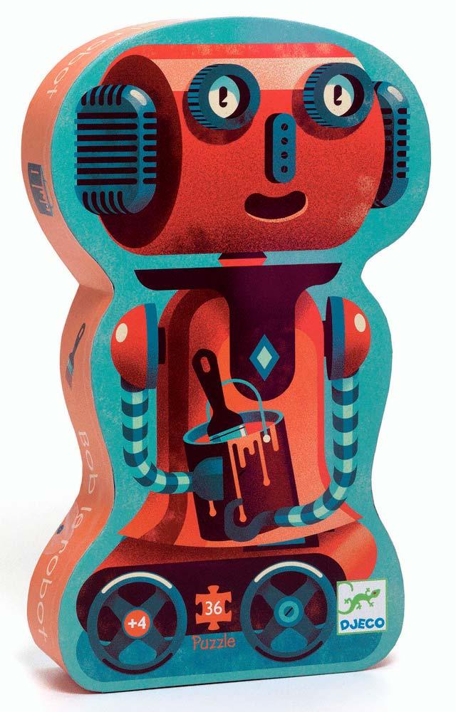 Formadobozos puzzle – Bob a robot – 36 db-os Djeco kirakó