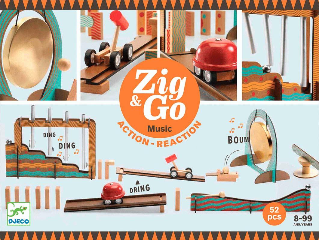 Zig & Go – Zene – 52 darabos Djeco építőjáték