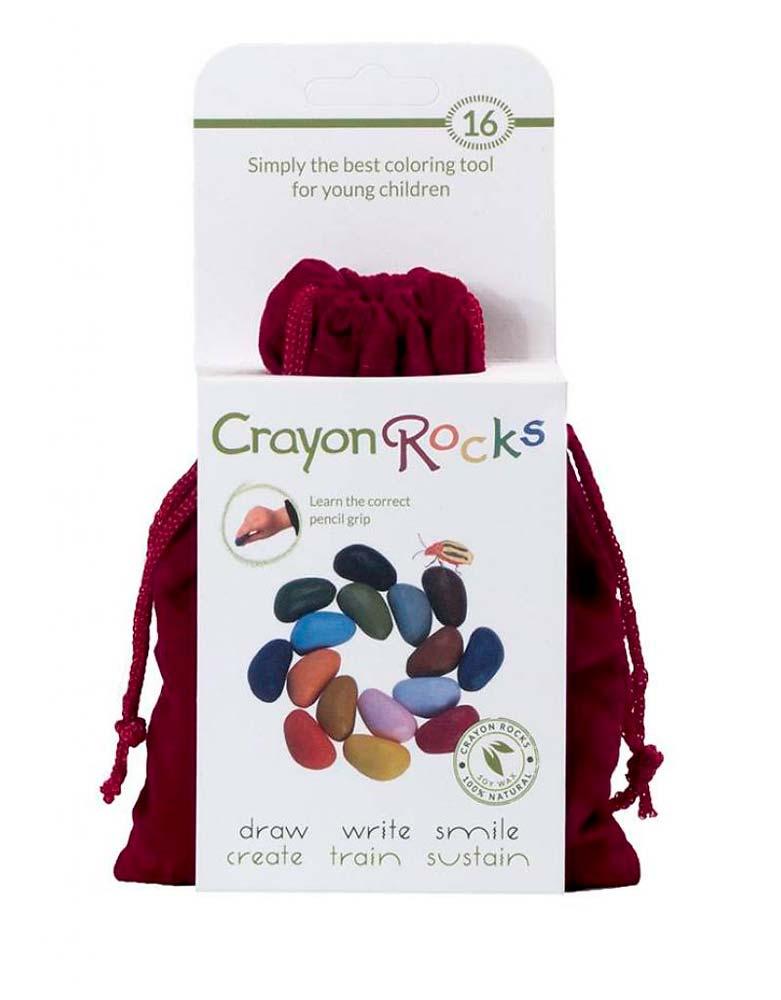 Crayon Rocks – Kavicskréta – 16 db bársony szütyőben